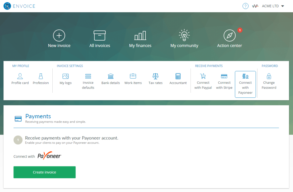 envoice-connect-with-payoneer